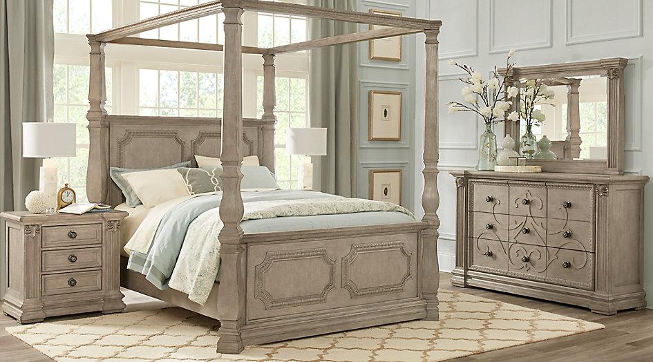 queen canopy bed  10