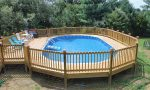 Experience great fun of swimming with above ground pools