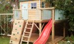 Let your kids have fun in a creative backyard playhouse