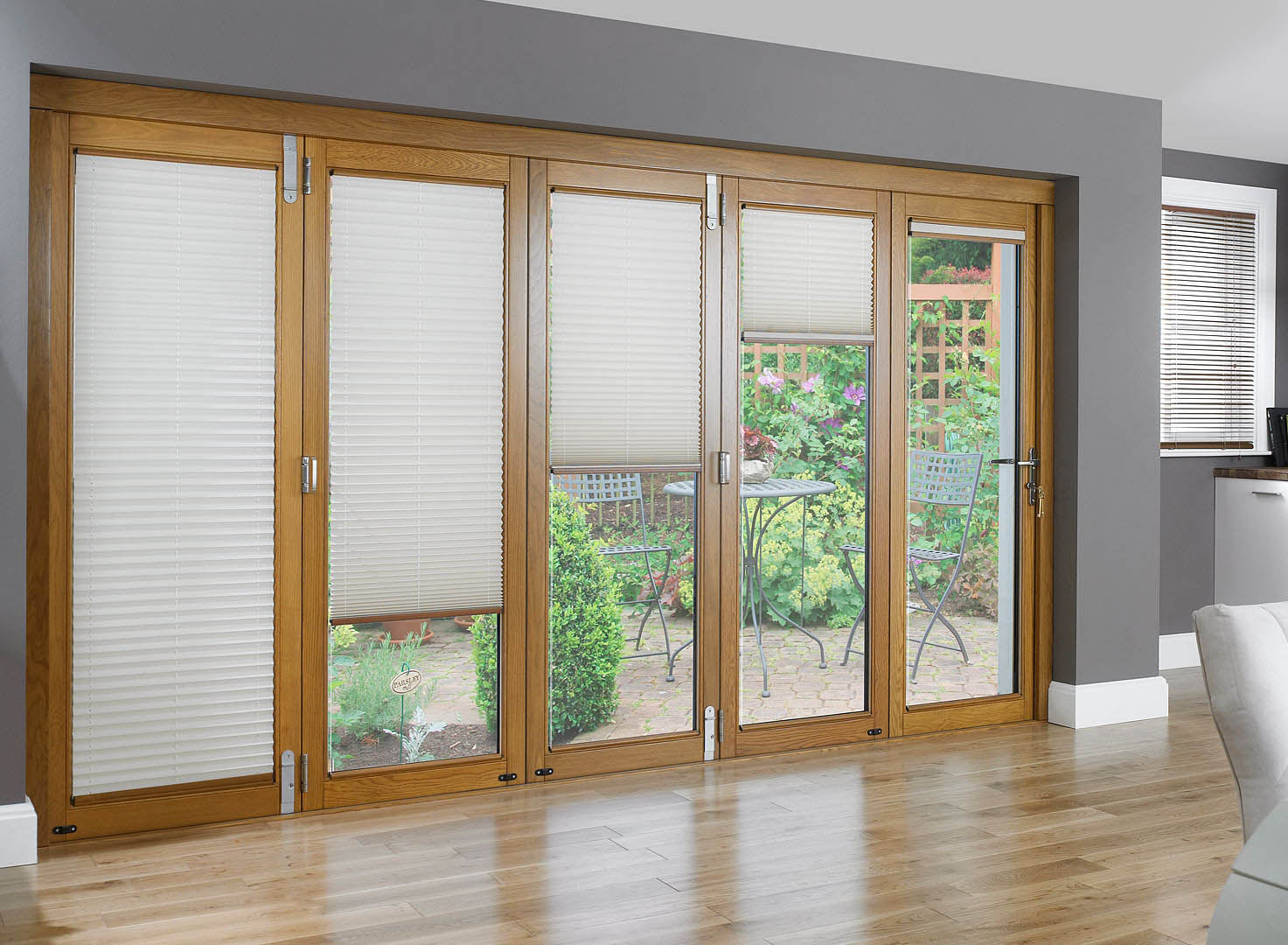 1080 #6B4821 Blinds For French Doors For The Best Possible Experience  picture/photo Blind For French Doors 291473
