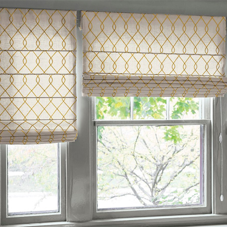 how to make a window shade with fabric