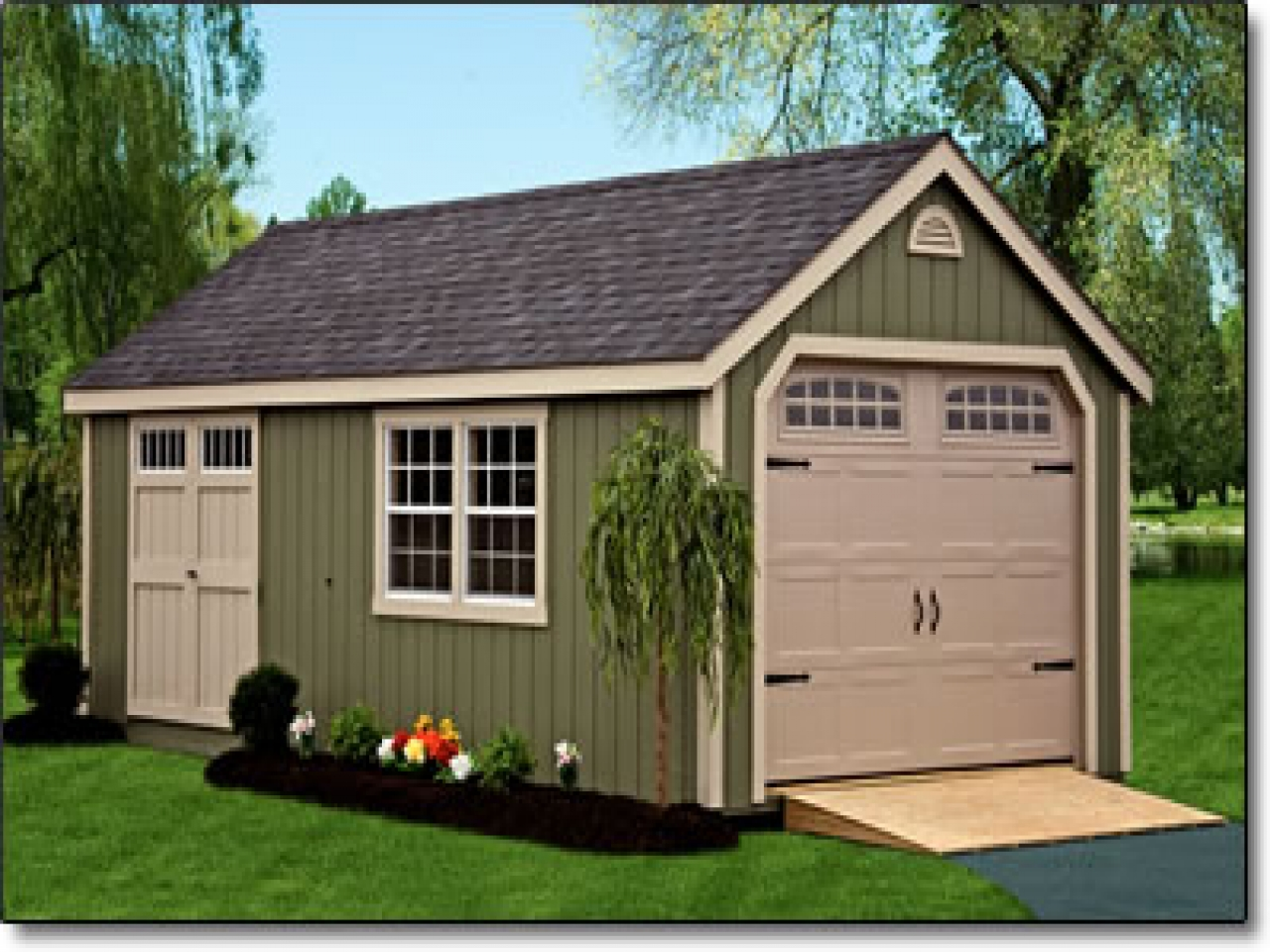 Pre built sheds dutch barn storage shed with cupola and for Outside buildings design