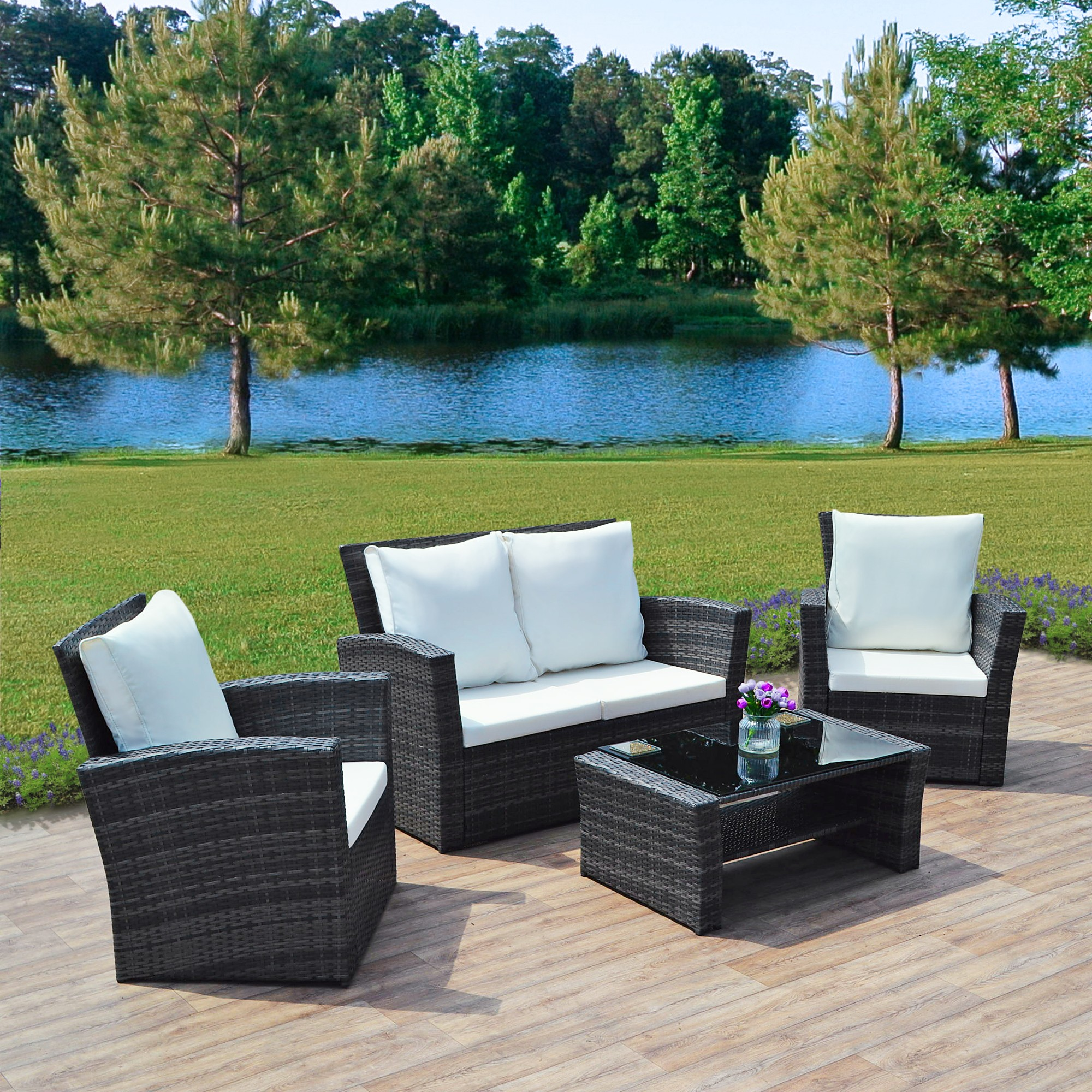 Rattan sofa sets garden furniture o winter 57 off best for Home design 6 piece patio set