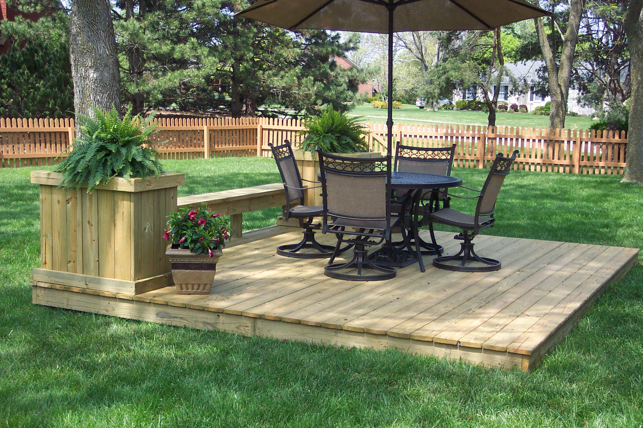Increase the value of your outdoor space by ground level for 12x12 deck plans