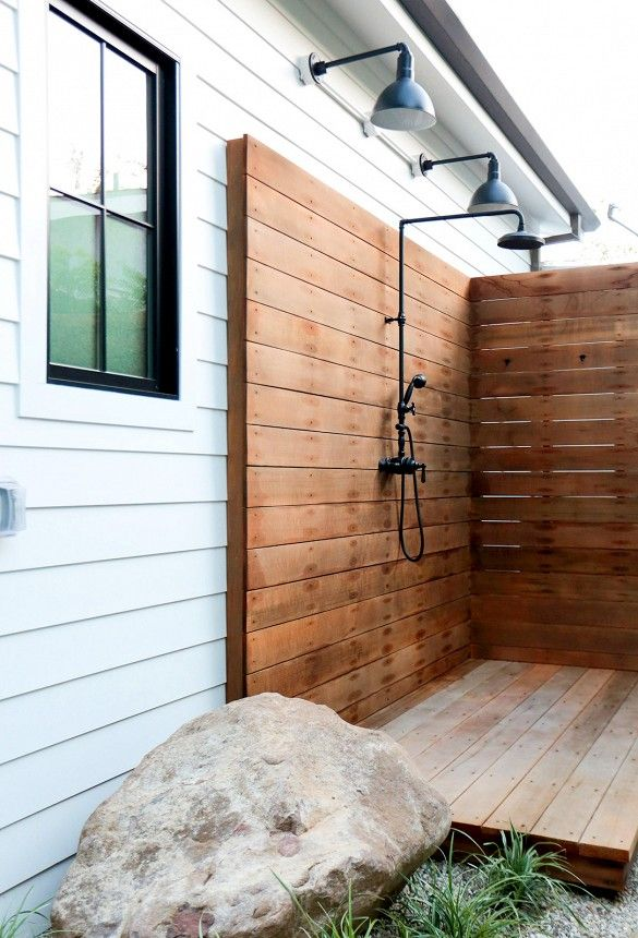 Inexpensive Outdoor Shower Ideas Designs