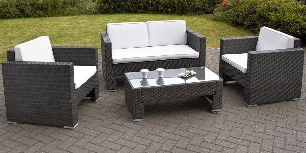rattan garden sofa sets for classy garden carehomedecor - Garden Furniture 4 Seater
