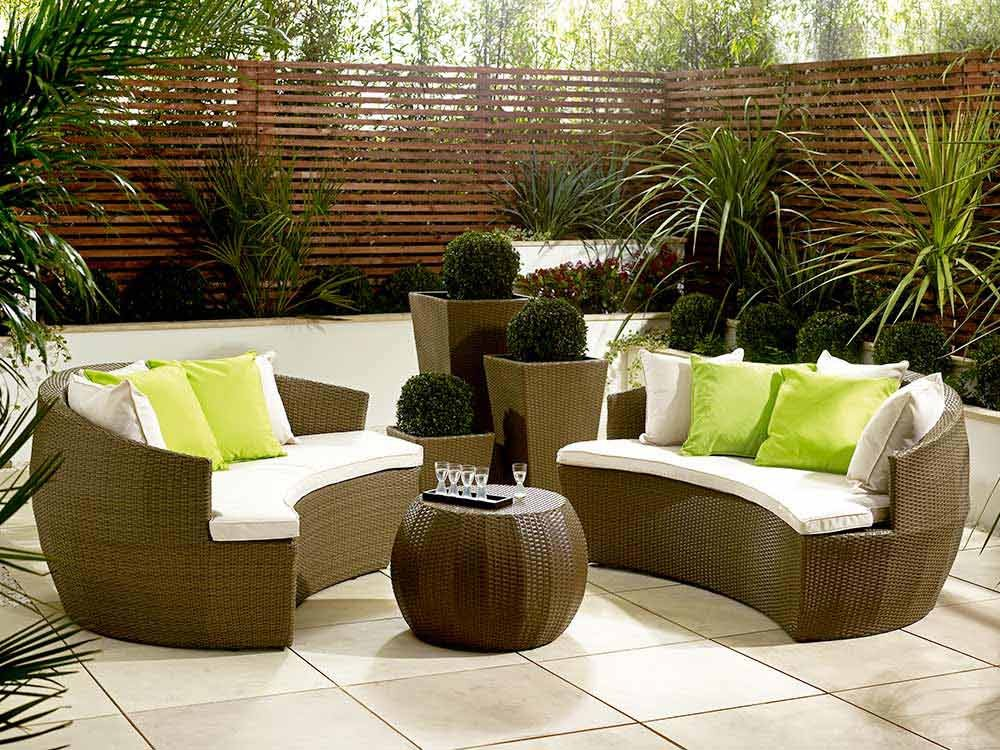 Rattan garden sofa sets for classy garden carehomedecor Garden loveseat