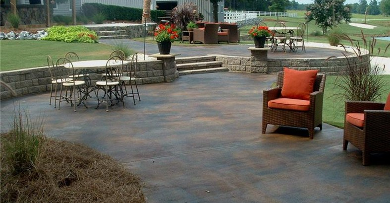 Give a new touch to house by adoring stained concrete for How to clean outdoor stained concrete