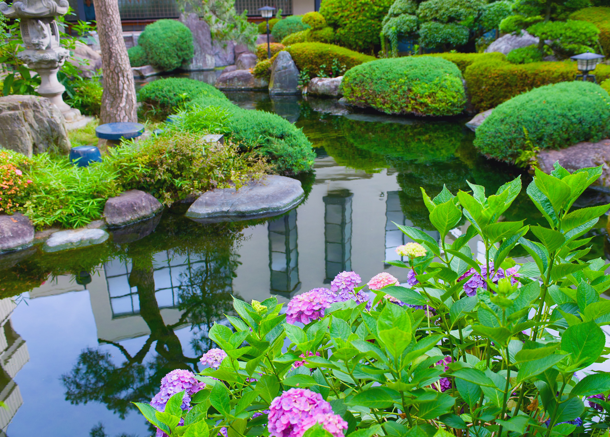 Make your water gardens with trendy pond designs for Garden and pond