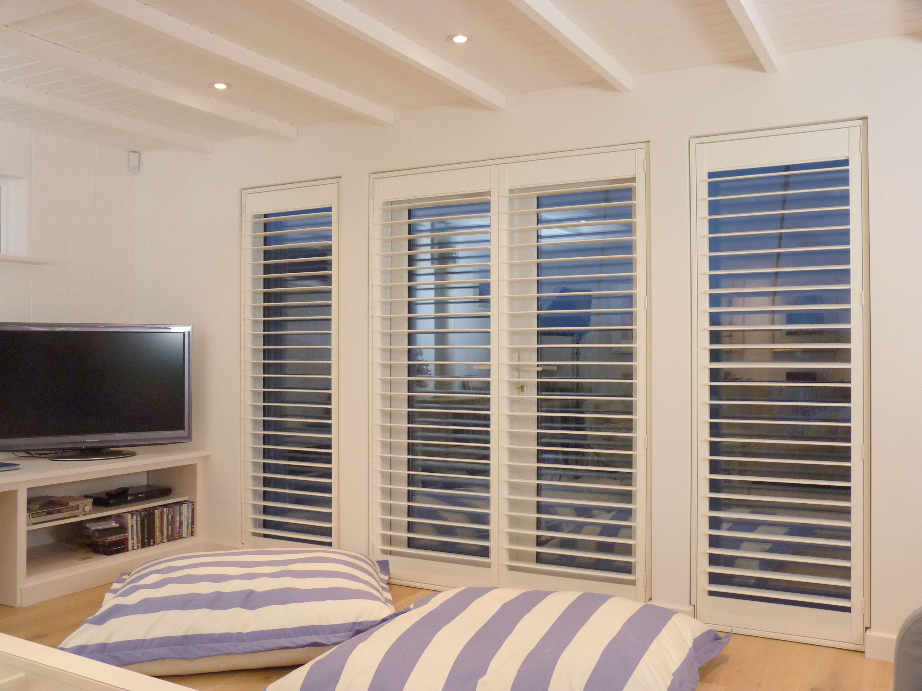 Amazing outdoor window shutter ideas carehomedecor for Window shutter designs