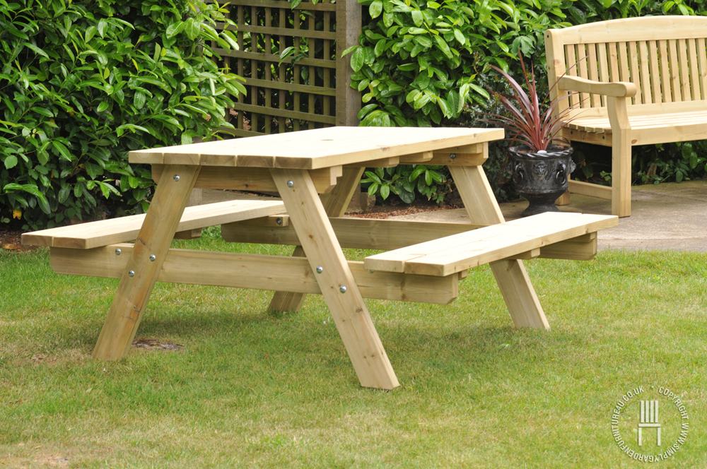 wooden garden furniture for every beautiful garden needs a perfect companion