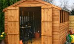 Wooden sheds, the perfect hiding spot for those messy garden equipment