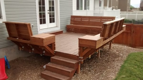 deck benches  35