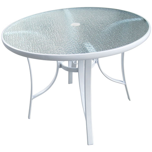 Glass patio table  71
