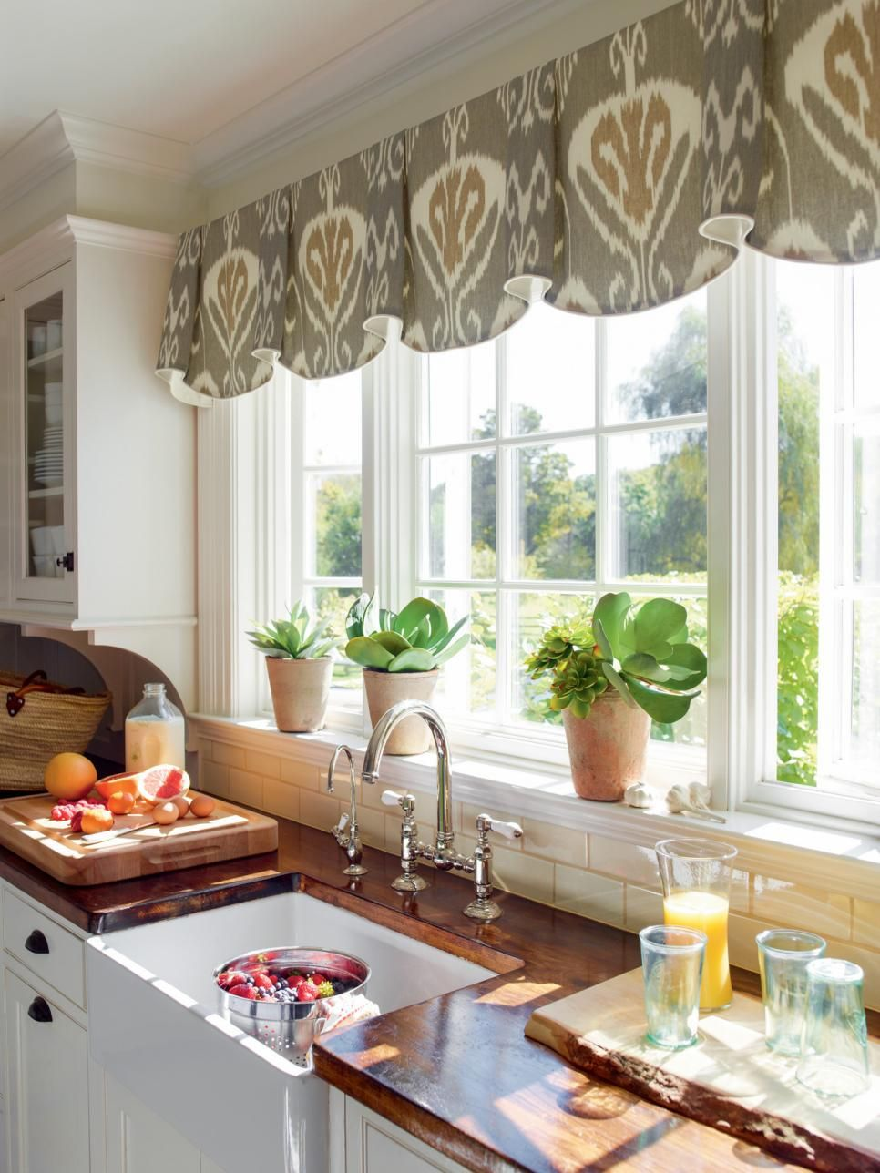 Kitchen window treatments  84
