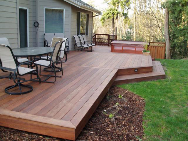 Make your patio luxuries by installing patio deck