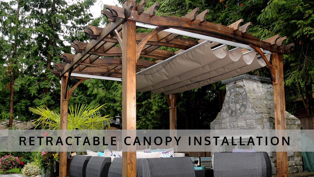pergola with canopy  49