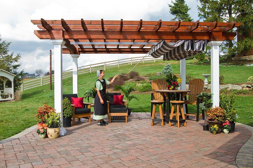pergola with canopy  99