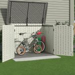 Plastic bike shed 45