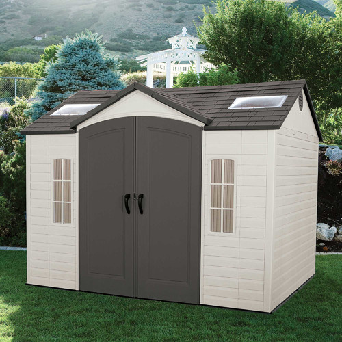 Sort important things into high quality plastic storage shed