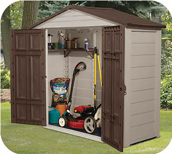 plastic storage shed  58