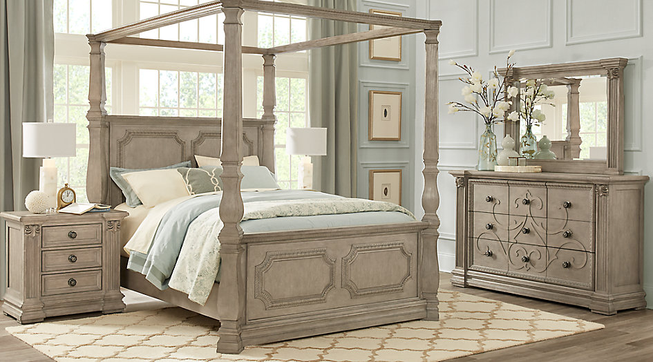 queen canopy bed  10