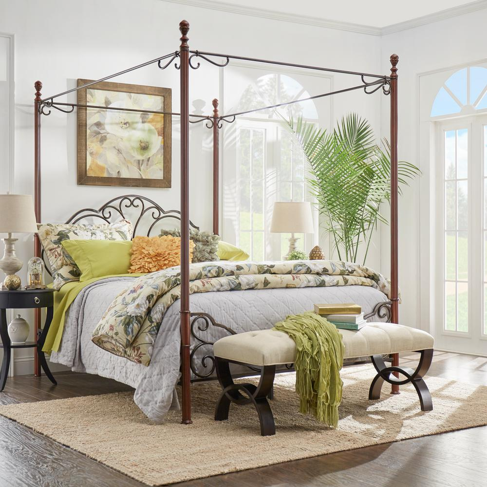 queen canopy bed  35