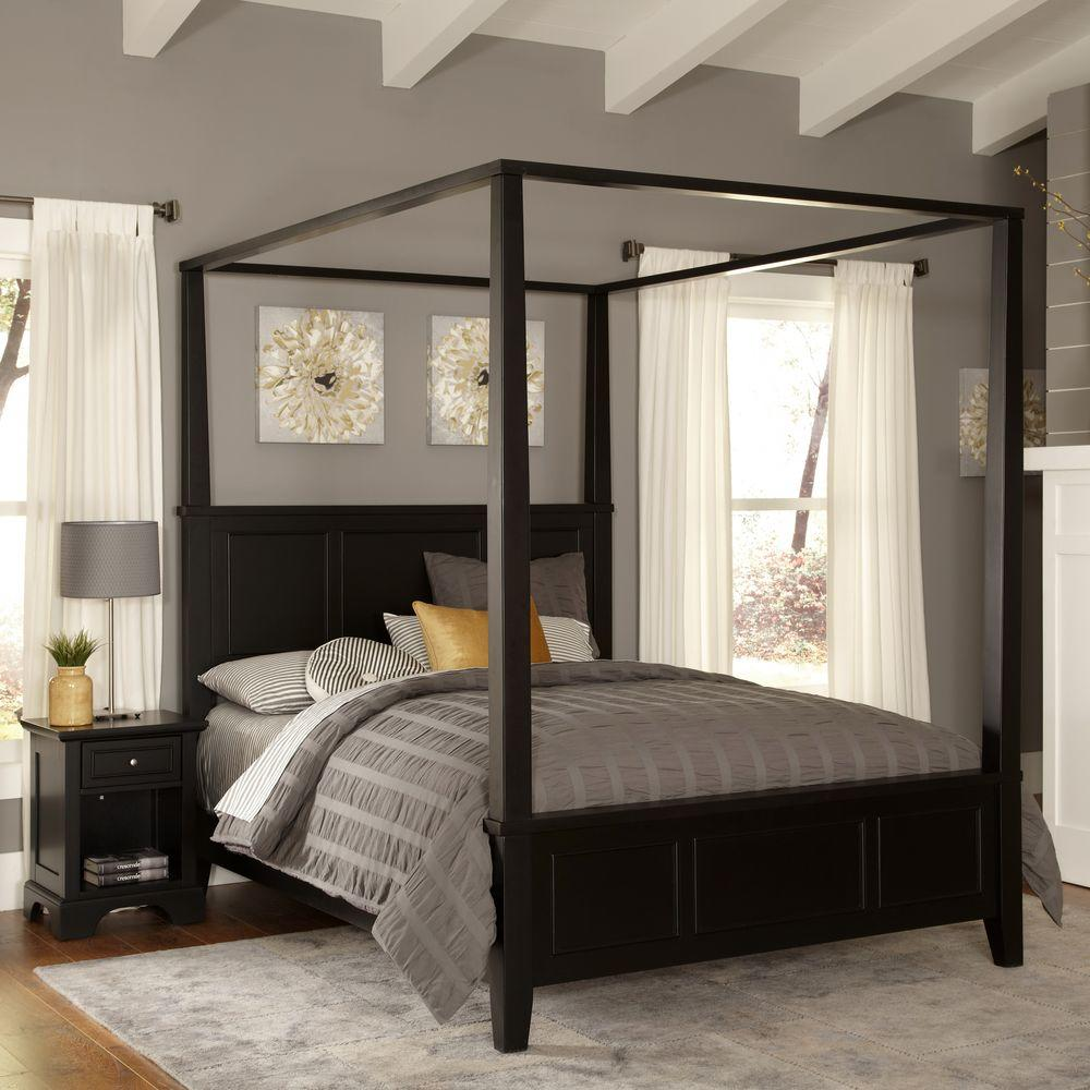 queen canopy bed  58