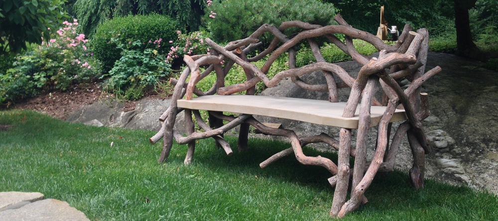 Rustic garden furniture  78