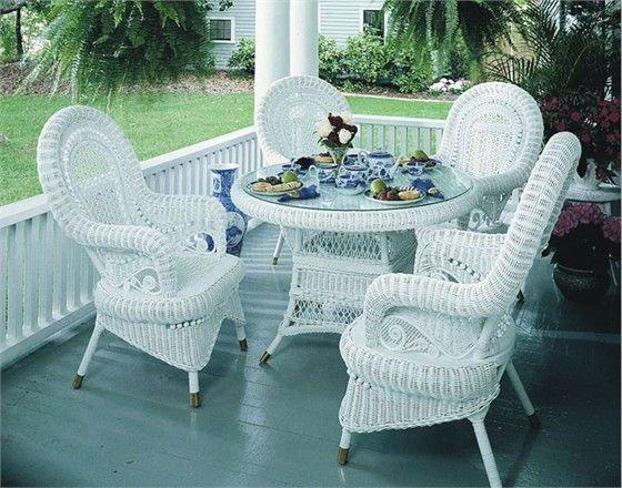 white wicker furniture  23