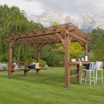 Place your vehicle and other important stuffs under wood gazebo
