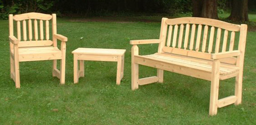 Wooden garden furniture  37