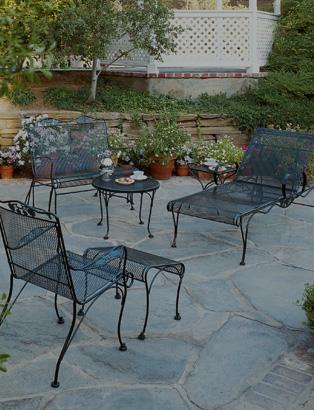 wrought garden iron furniture  47