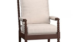 Loralie Upholstered Spindle Armchair | Pottery Barn