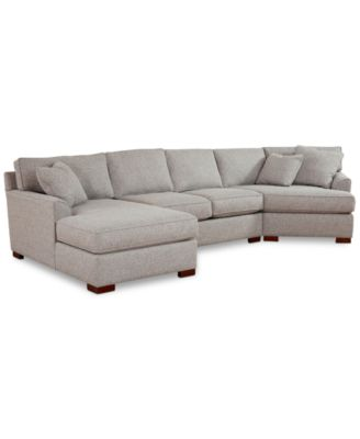 Furniture Carena 3-Pc. Fabric Sectional Sofa with Armless Loveseat