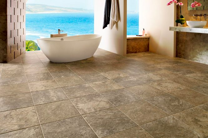 Unique bathroom flooring ideas