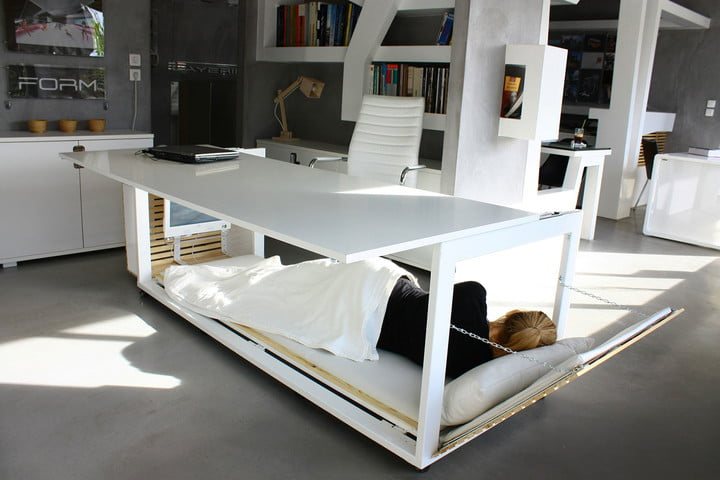 This Bed-Desk Would Make It Easy to Nap at Work | Digital Trends