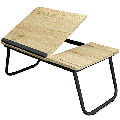 Amazon.com : Adjustable Laptop Table, Portable Bed Tray, Book Stand