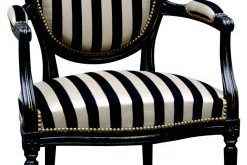 black and white striped chair. gonna do one of these, too