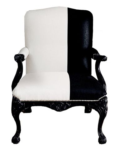 I'm currently having this chair upholstered in stamped black