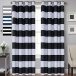 Peak of interior designing:   black and white curtains