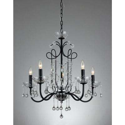 Black - Crystal - Chandeliers - Lighting - The Home Depot