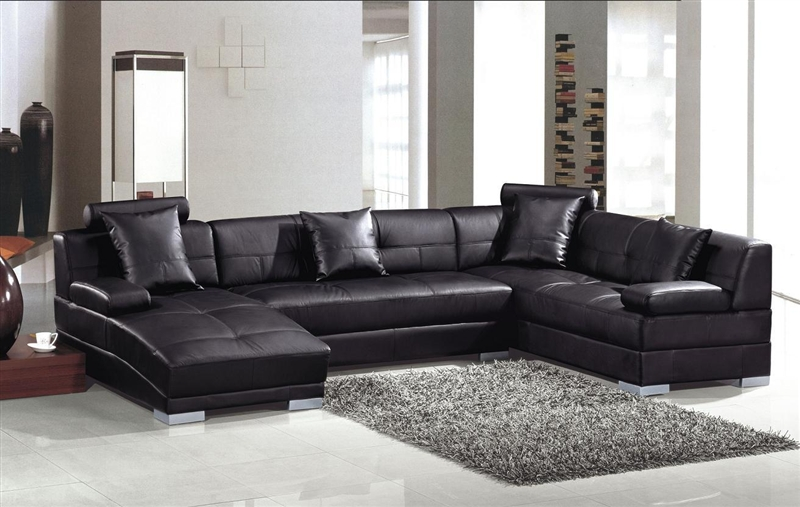 Modern Black Sectional Sofa Set TOS-LF-3334