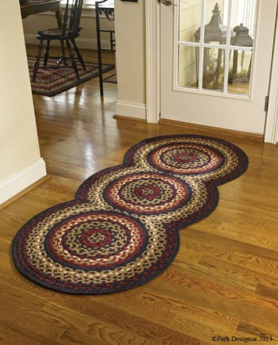 Amazon.com: Braided Rugs Folk Art Style Runner, 30 X 72: Kitchen