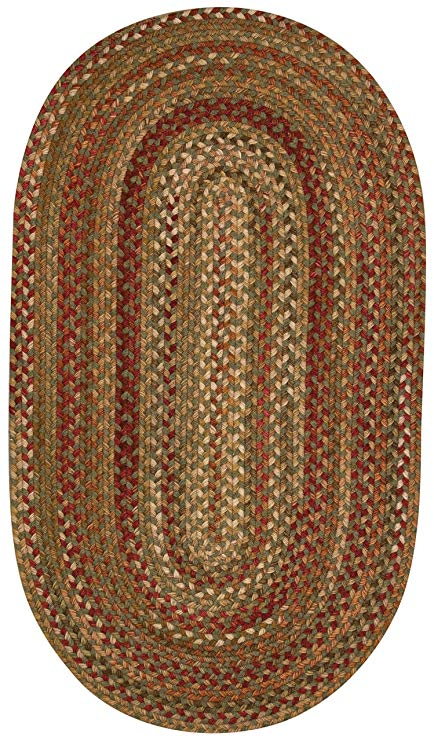 Amazon.com: Capel Manchester 0048 Braided Rug - Sage Red Hues