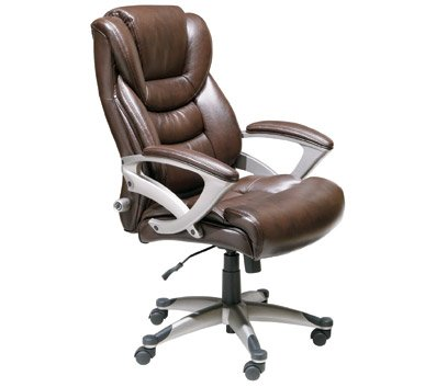 Amazon.com: Serta Executive High-Back Office Chair, Brown: Kitchen
