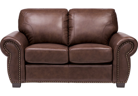 $868.00 - Balencia Dark Brown Leather Loveseat - Classic - Traditional,