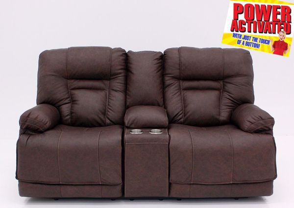 Wurstrow Power Reclining Loveseat - Brown | Home Furniture + Mattress