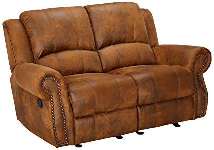 Amazon.com: Sir Rawlinson Gliding Reclining Loveseat with Nailhead