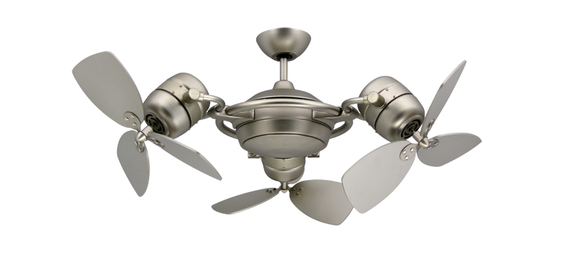 TriStar 3x 18 in. Satin Steel Triple Ceiling Fan | Dan's Fan City